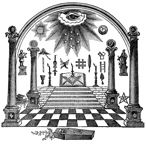 Below: A chart illustrating the degrees and branches of Freemasonry ...
